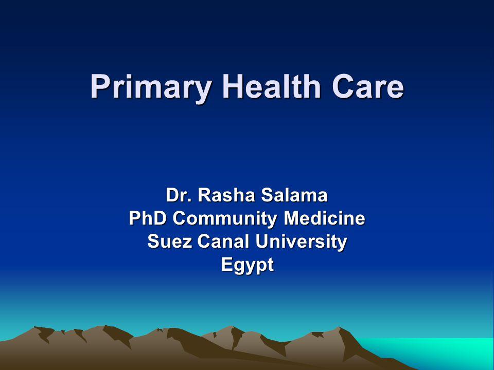 Dr. Rasha Salama PhD Community Medicine Suez Canal University Egypt
