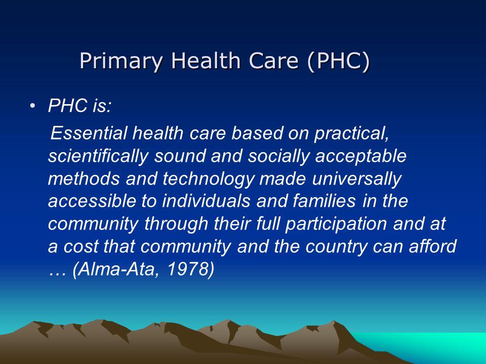 Primary Health Care (PHC)
