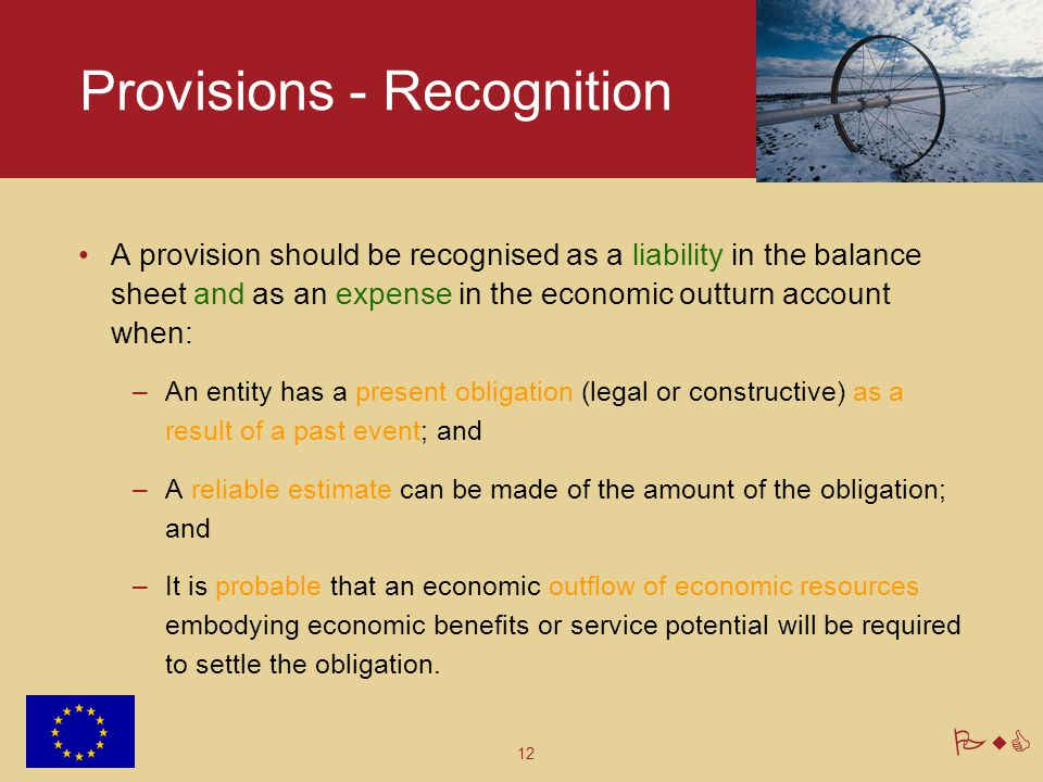 Provisions - Recognition