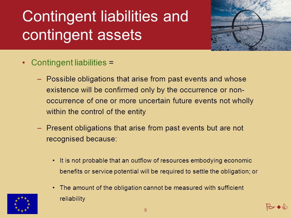 Contingent liabilities and contingent assets