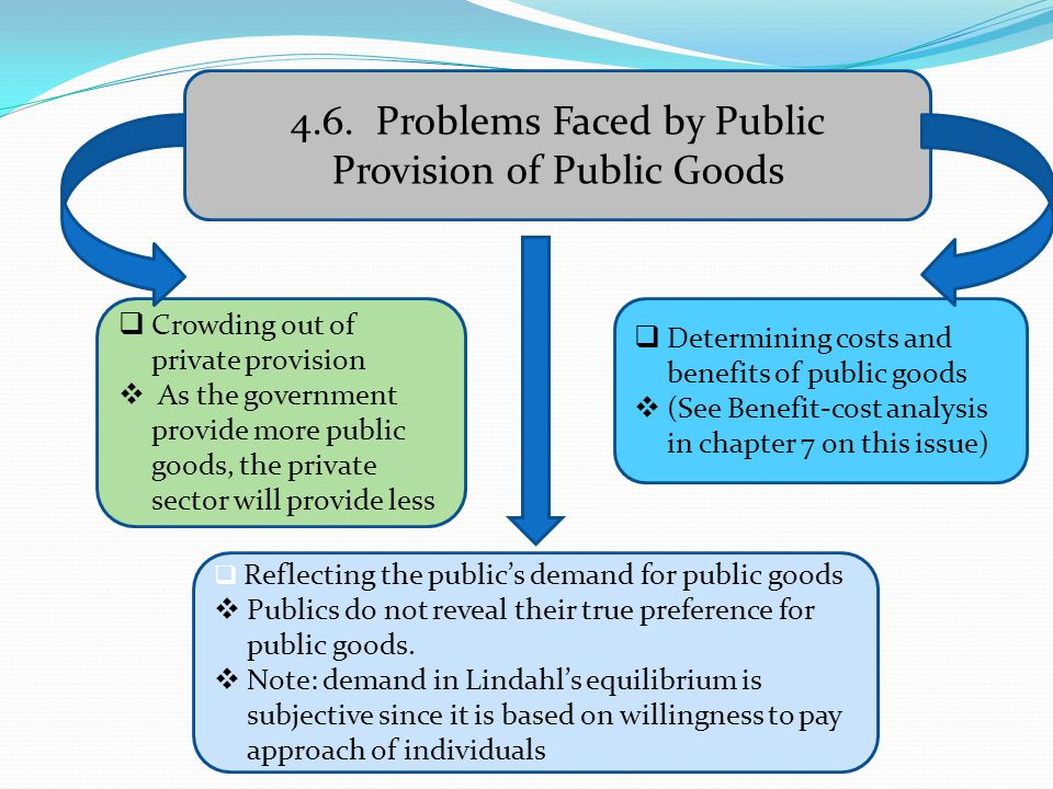 4.6. Problems Faced by Public Provision of Public Goods