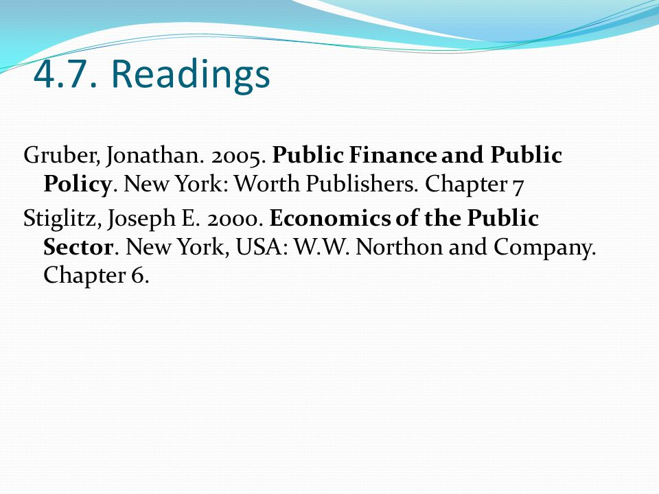 4.7. Readings