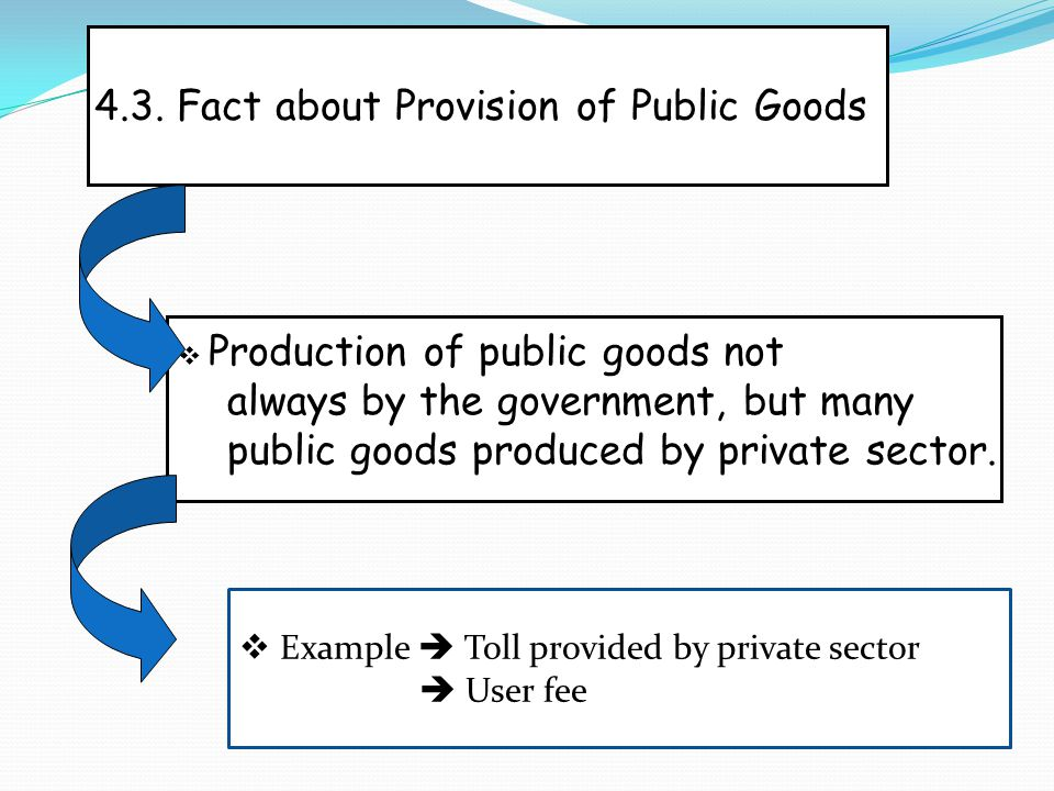 4.3. Fact about Provision of Public Goods