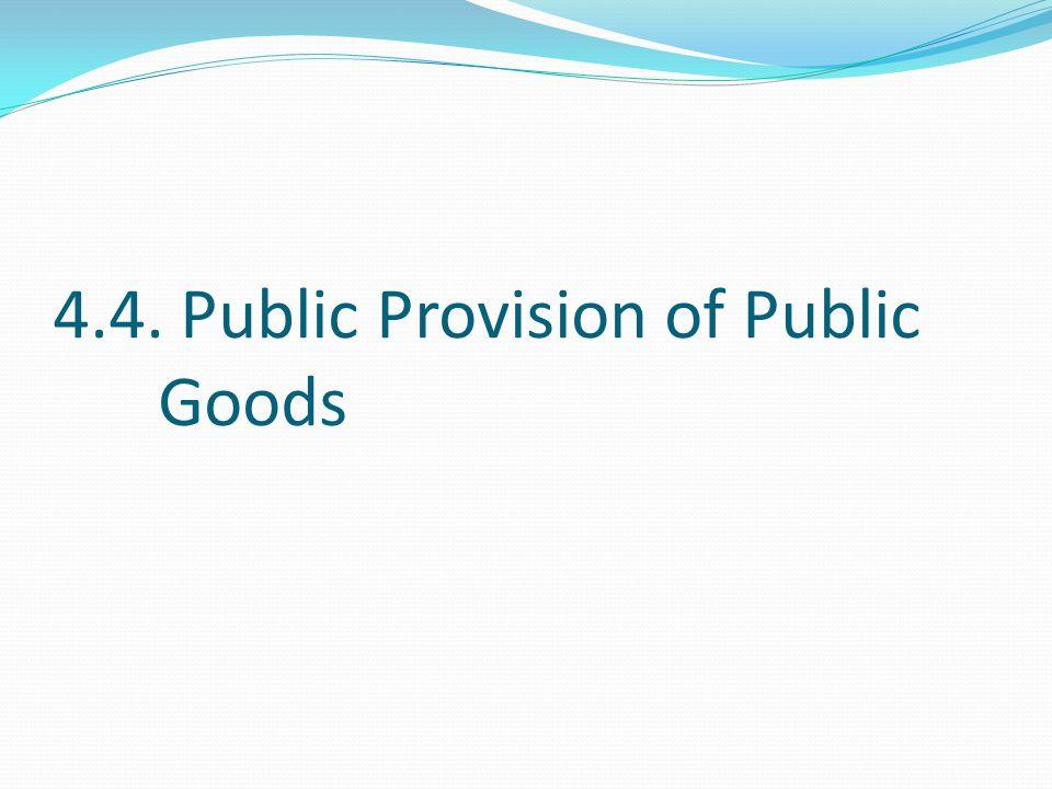4.4. Public Provision of Public Goods
