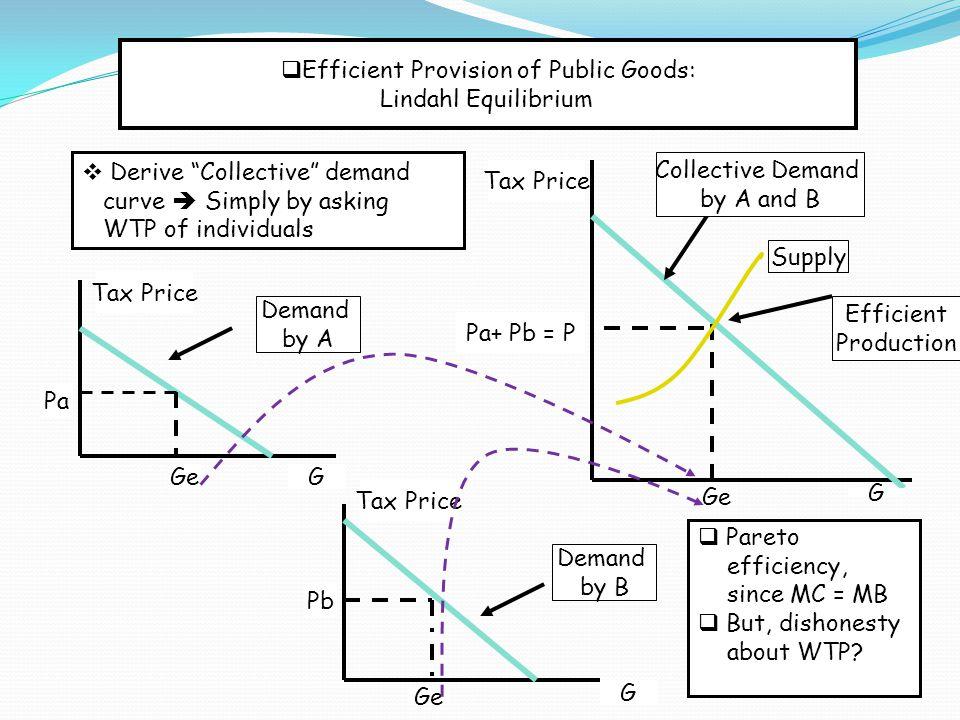 Efficient Provision of Public Goods: