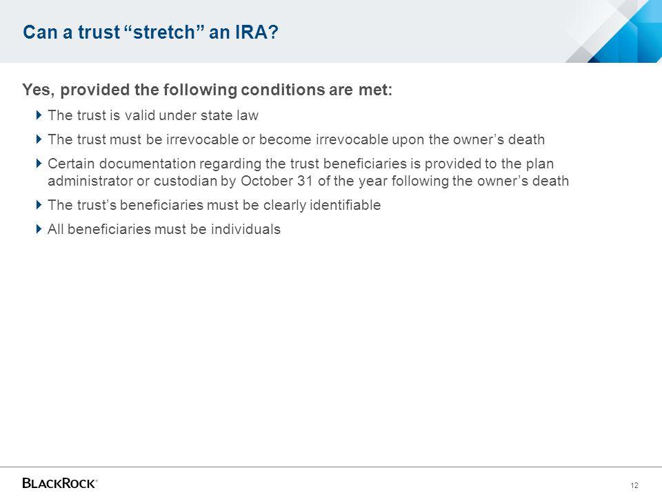 Can a trust stretch an IRA