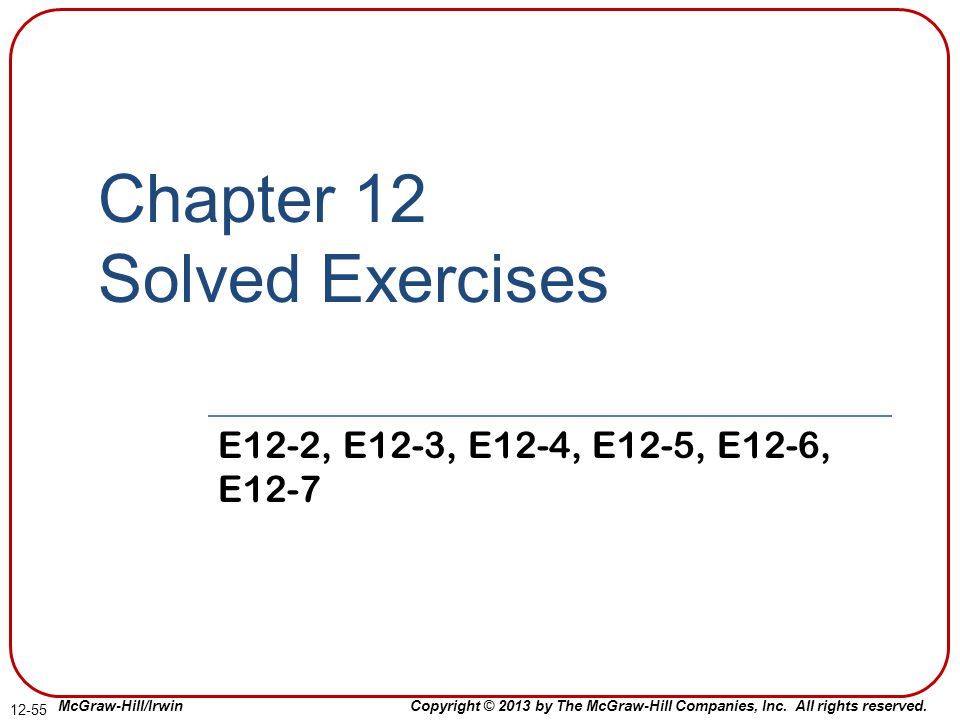 Chapter 12 Solved Exercises
