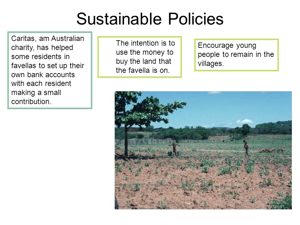 Sustainable Policies