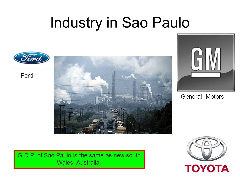 G.D.P of Sao Paulo is the same as new south Wales, Australia.