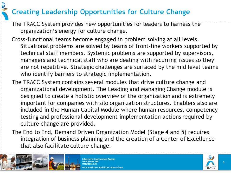 Creating Leadership Opportunities for Culture Change