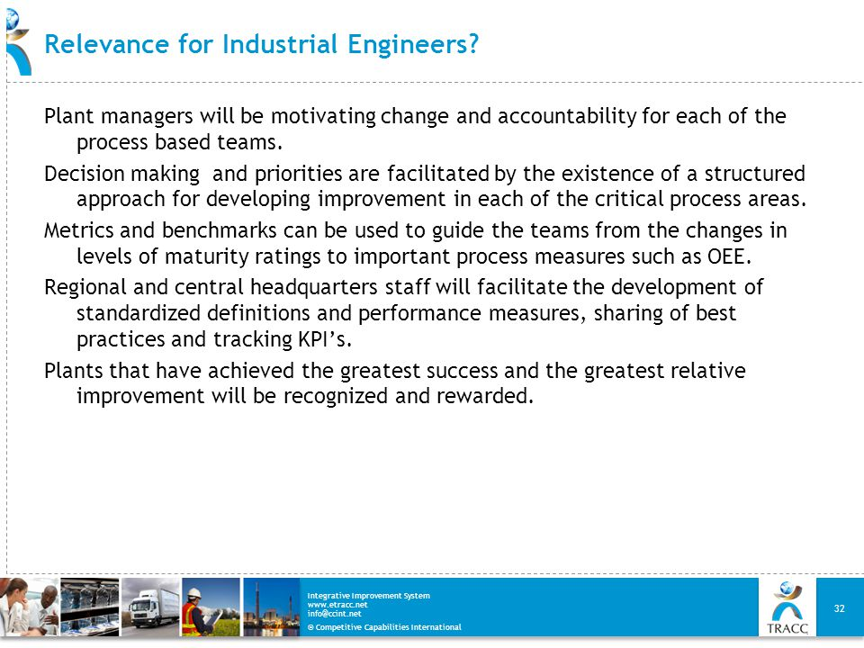 Relevance for Industrial Engineers
