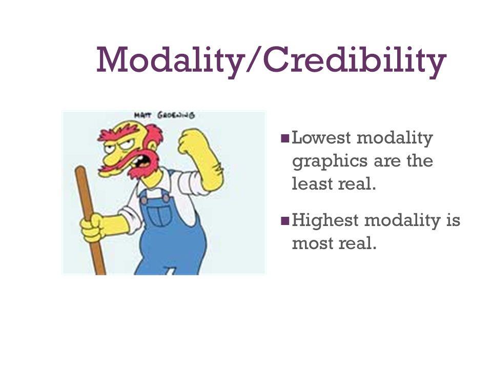 Modality/Credibility