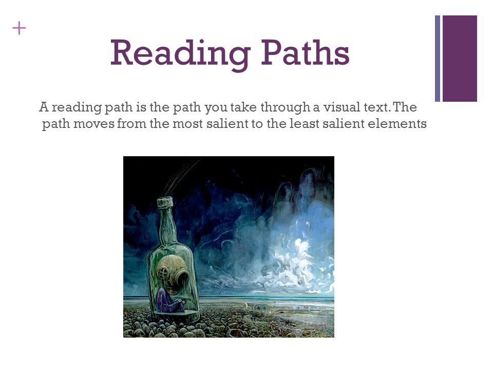Reading PathsA reading path is the path you take through a visual text.