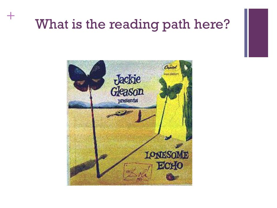 What is the reading path here