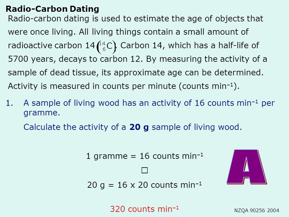 What can be dated using carbon dating