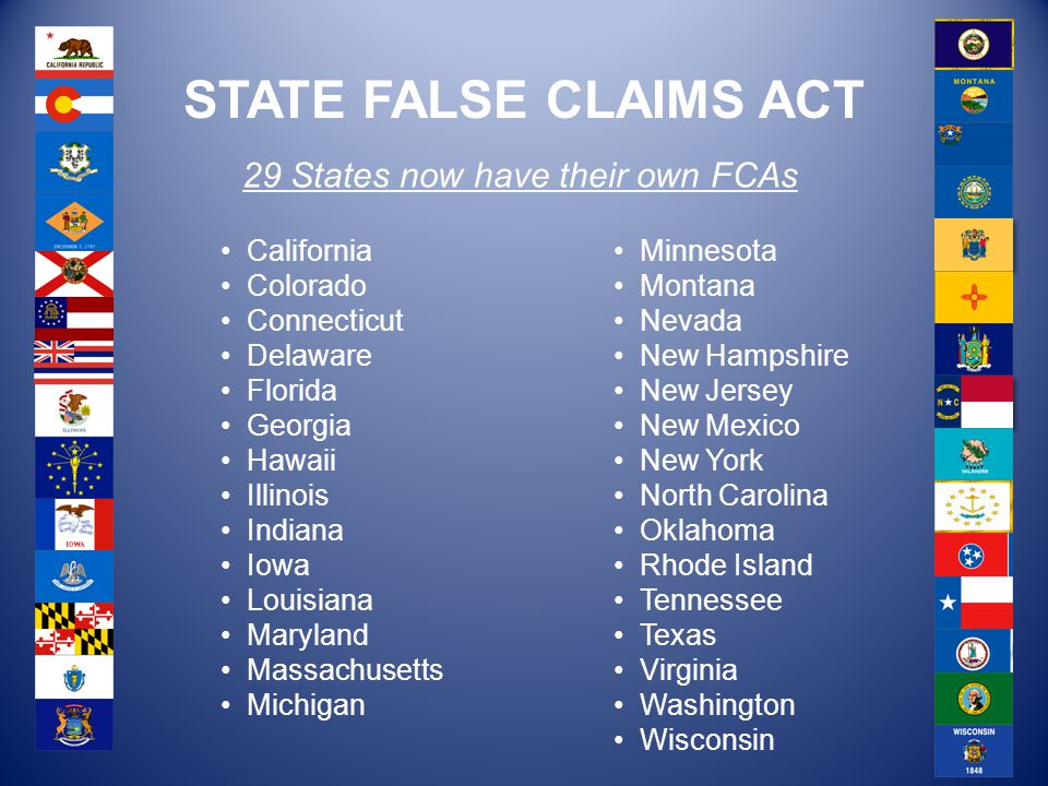 29 States now have their own FCAs