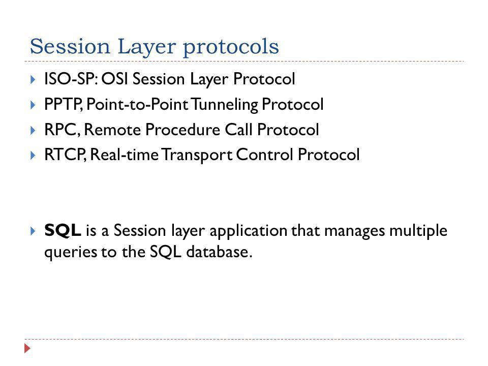 Session Layer protocols