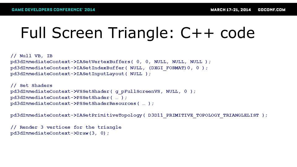 Full Screen Triangle: C++ code