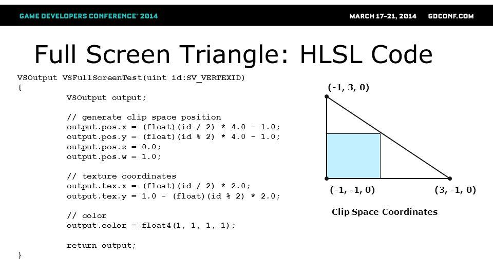 Full Screen Triangle: HLSL Code