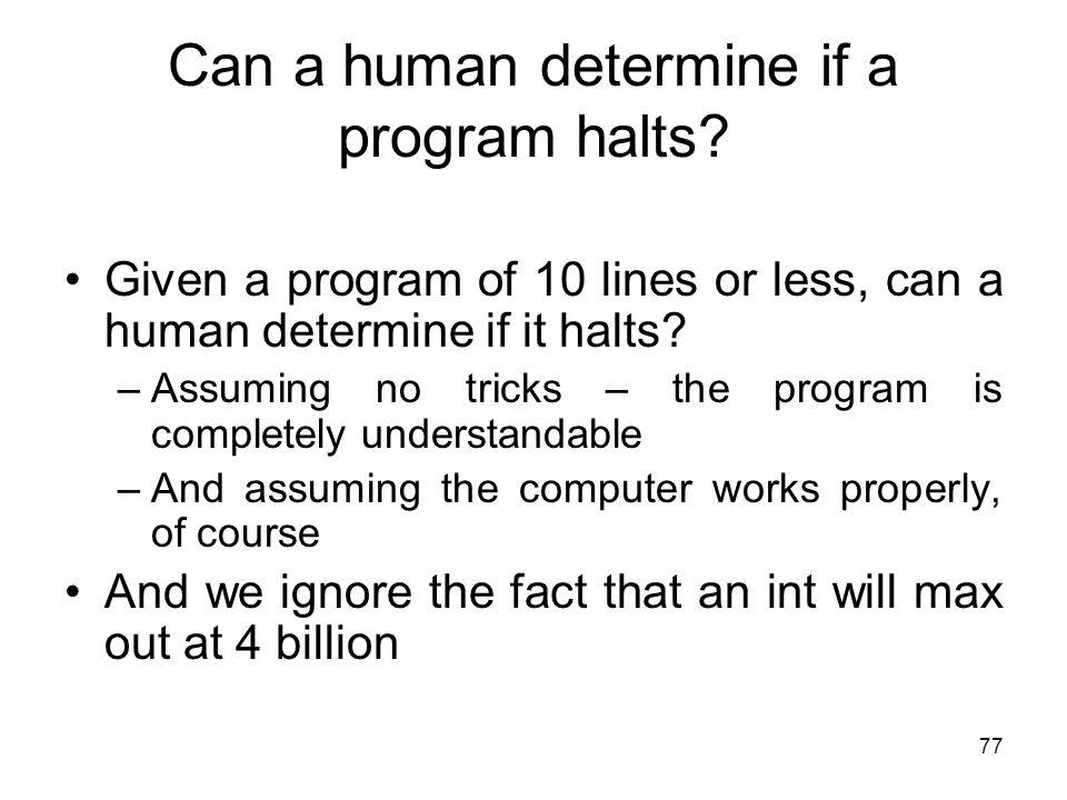 Can a human determine if a program halts