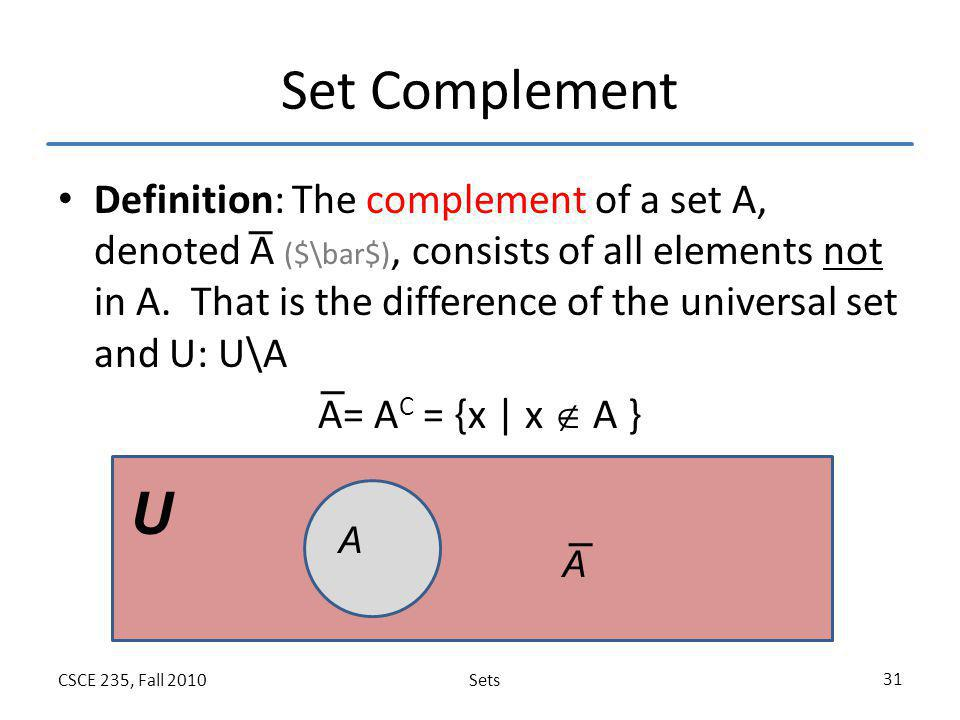 Set Complement