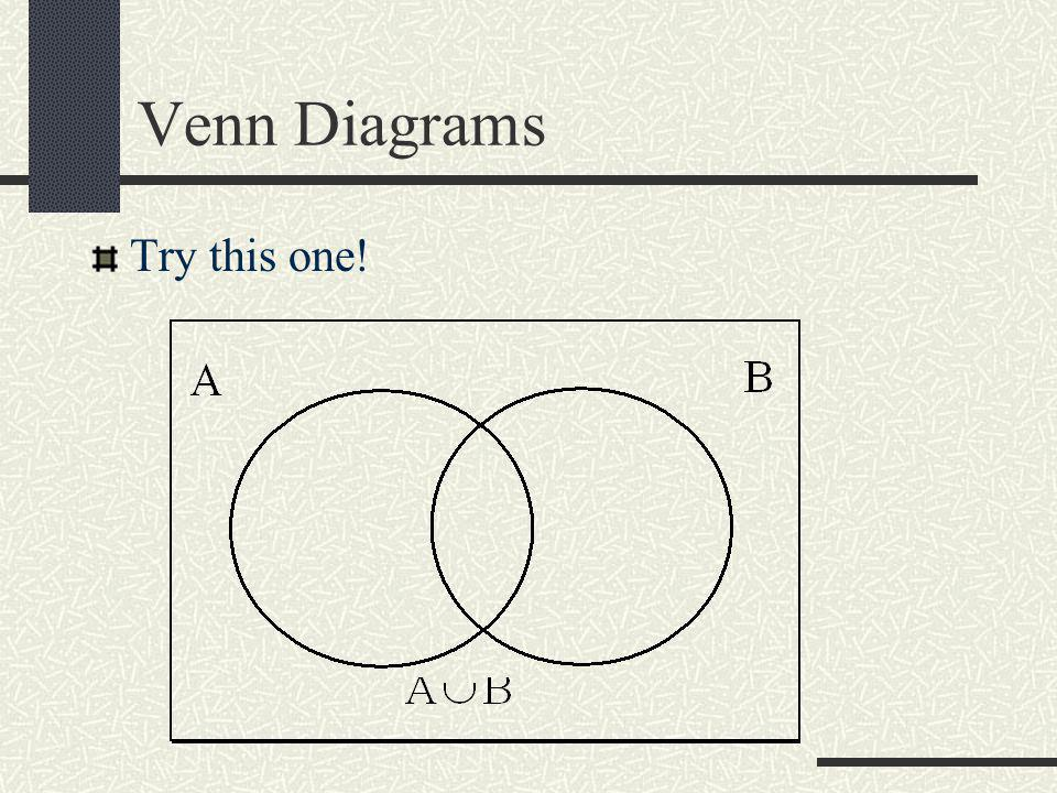 Venn Diagrams Try this one!