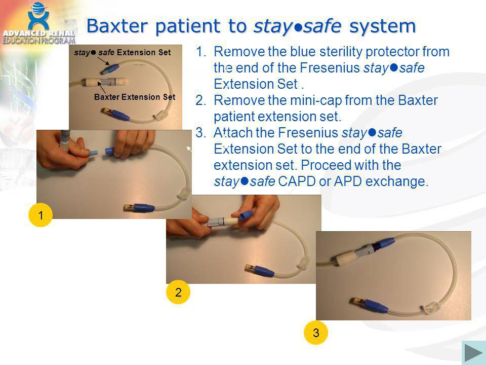 Baxter patient to staysafe system