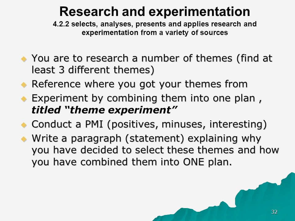Research and experimentation 4. 2