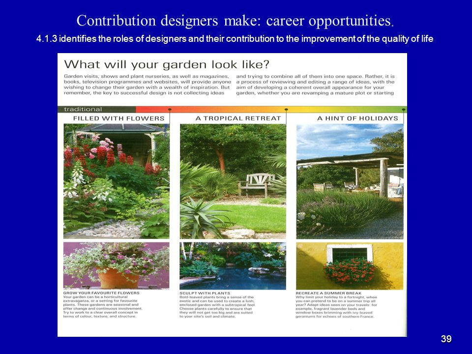 Contribution designers make: career opportunities. 4. 1