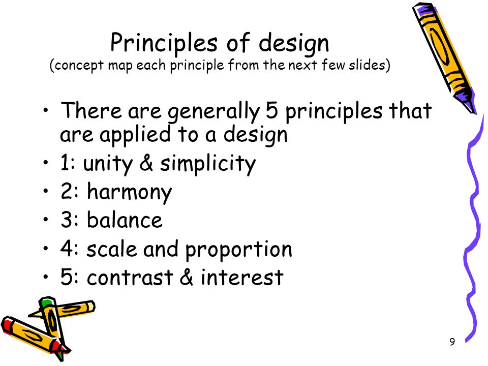 Principles of design (concept map each principle from the next few slides)