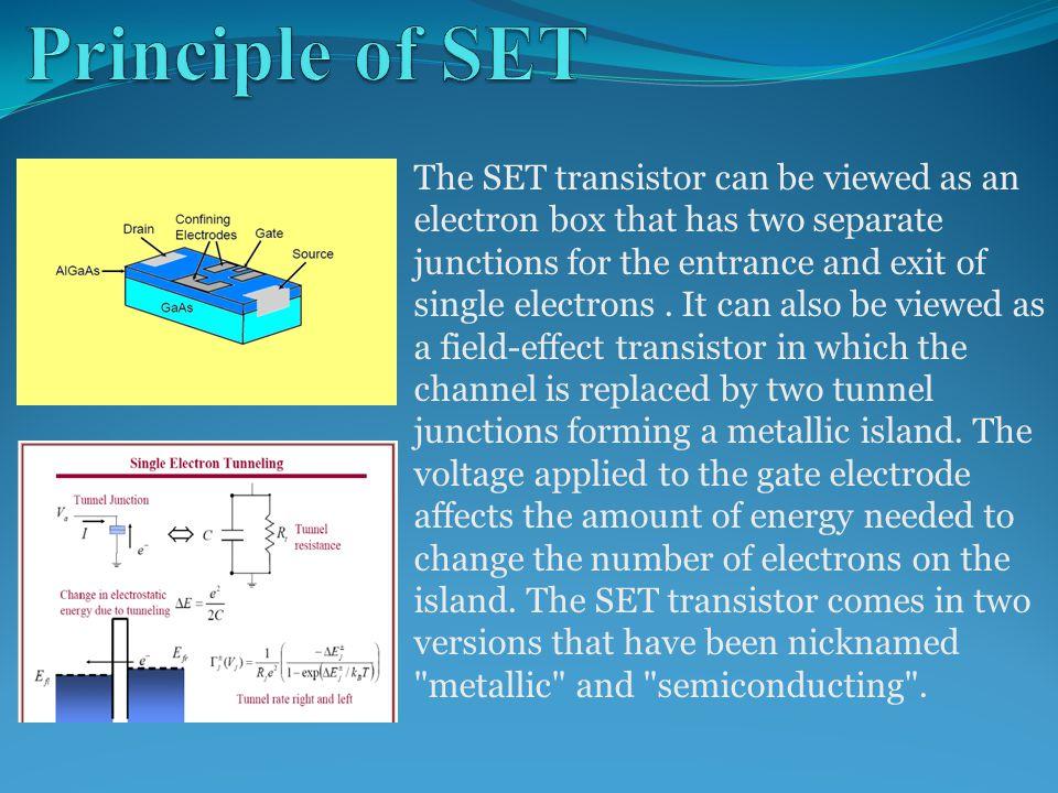Principle of SET