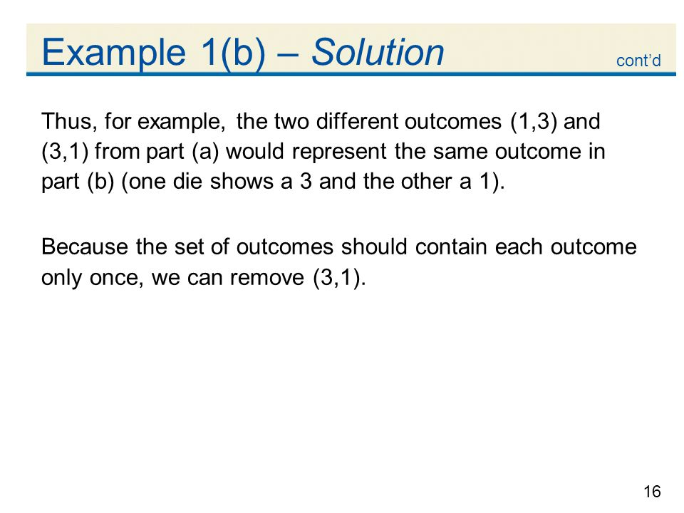 Example 1(b) – Solution cont'd.
