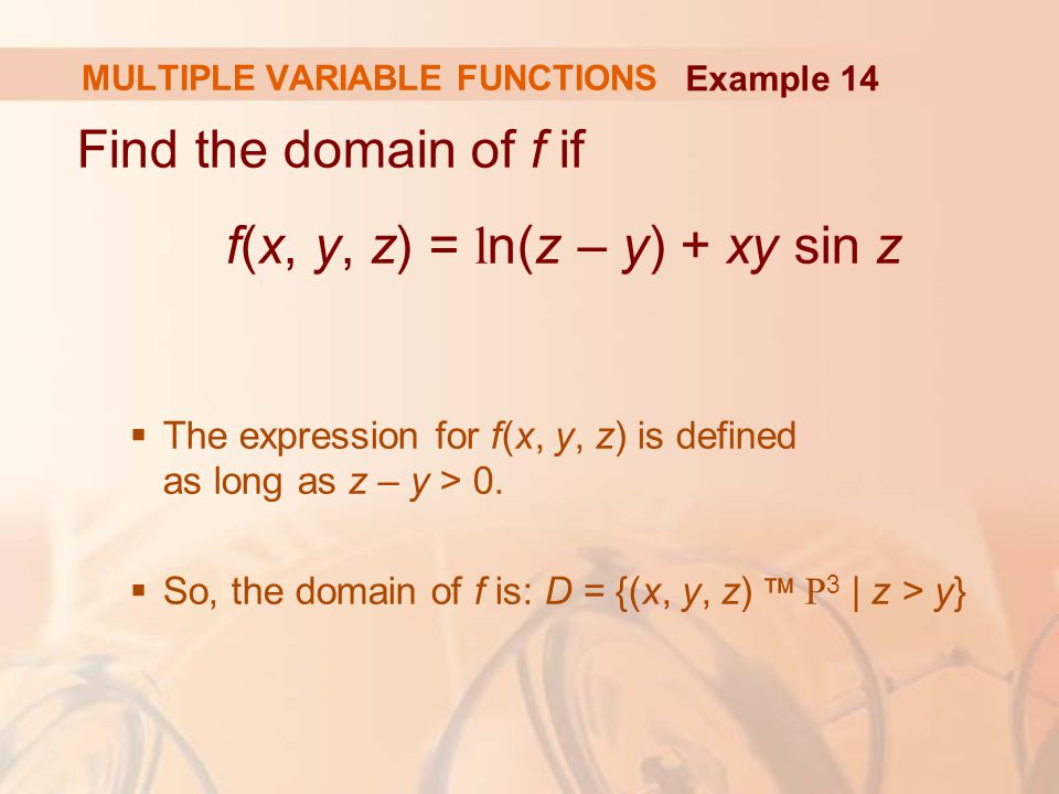 MULTIPLE VARIABLE FUNCTIONS
