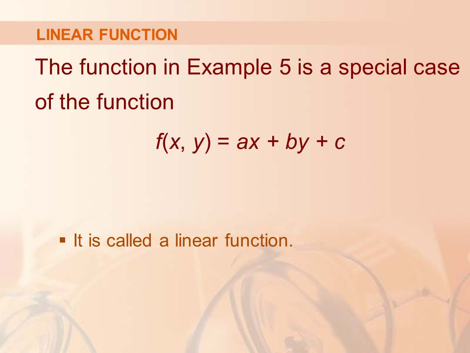 The function in Example 5 is a special case of the function