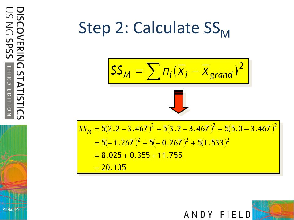 Step 2: Calculate SSM Slide 19