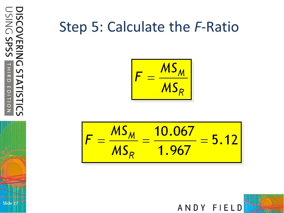 Step 5: Calculate the F-Ratio