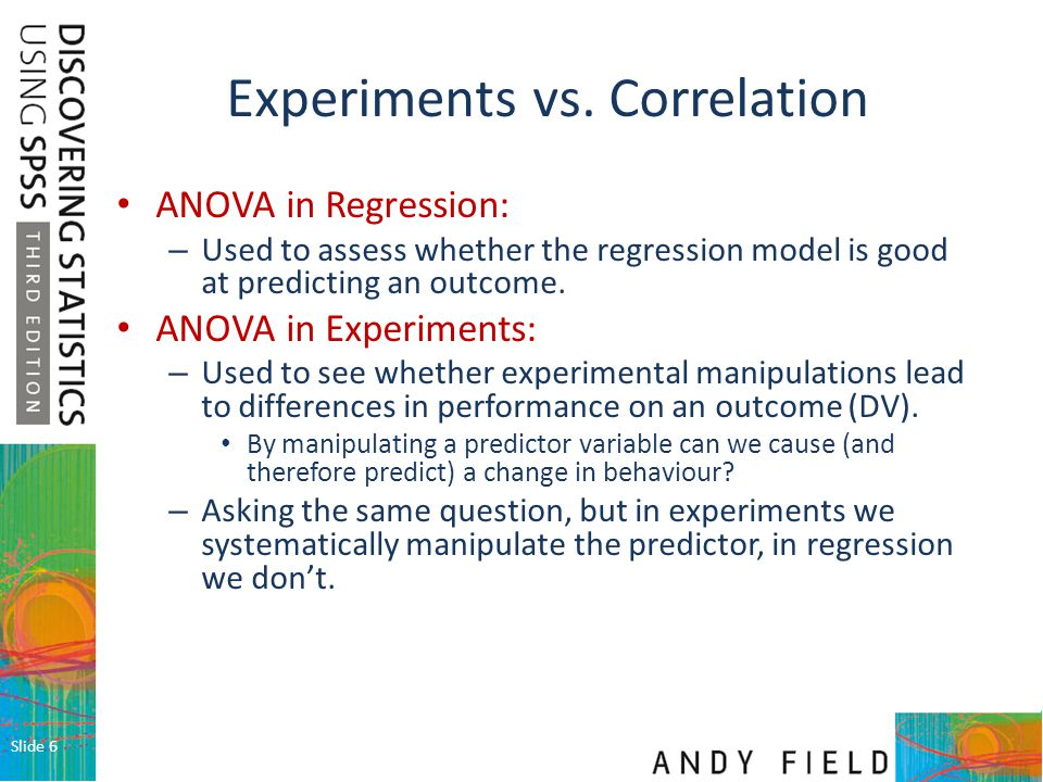 Experiments vs. Correlation