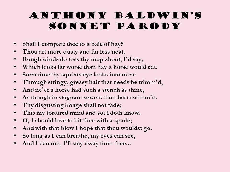 Anthony Baldwin's sonnet parody