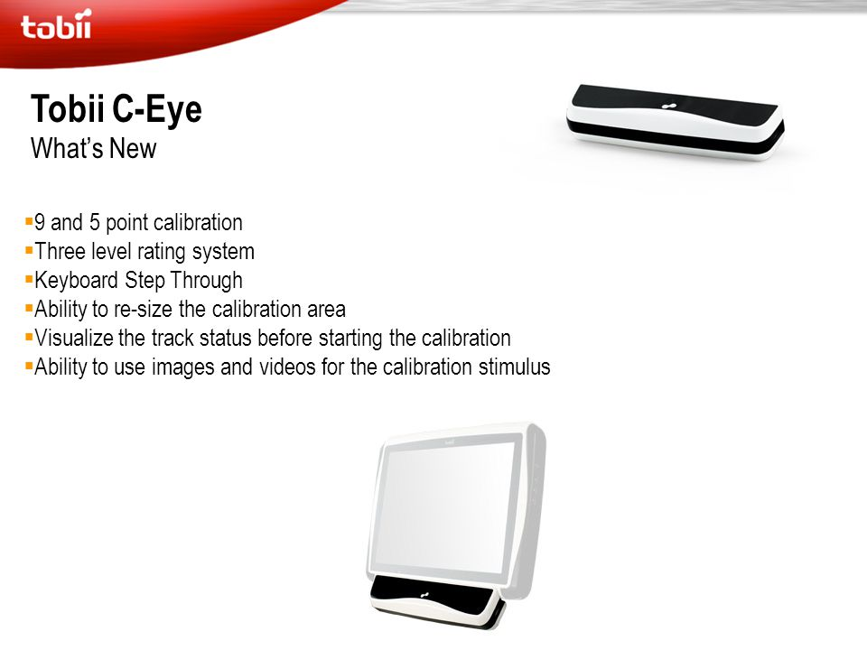 Tobii C-Eye What's New 9 and 5 point calibration