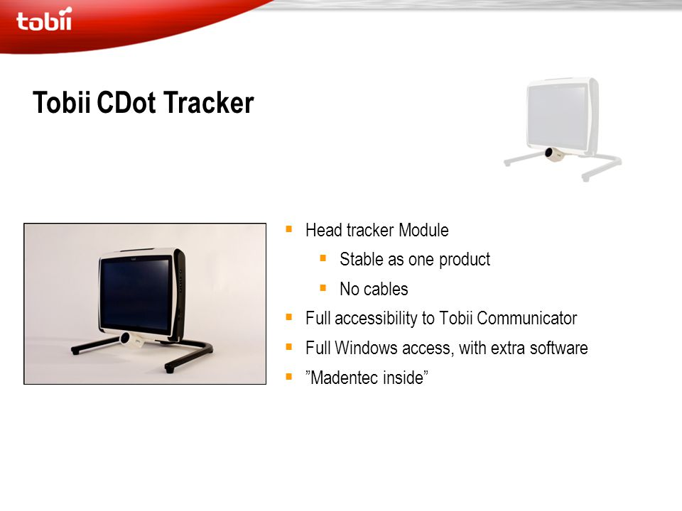 Tobii CDot Tracker Head tracker Module Stable as one product No cables