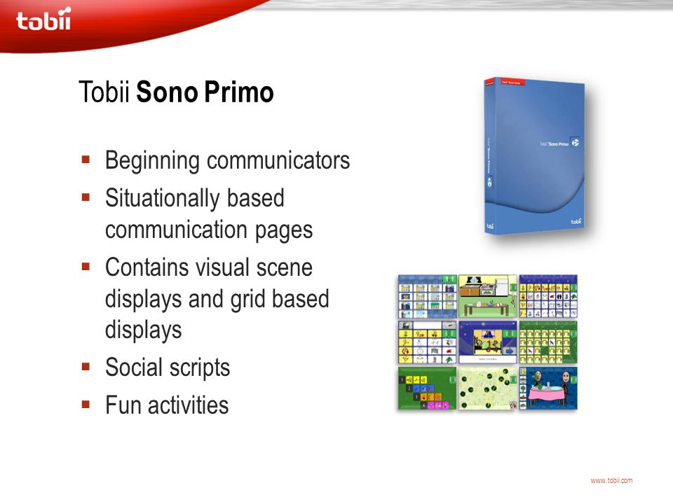 Tobii Sono Primo Beginning communicators