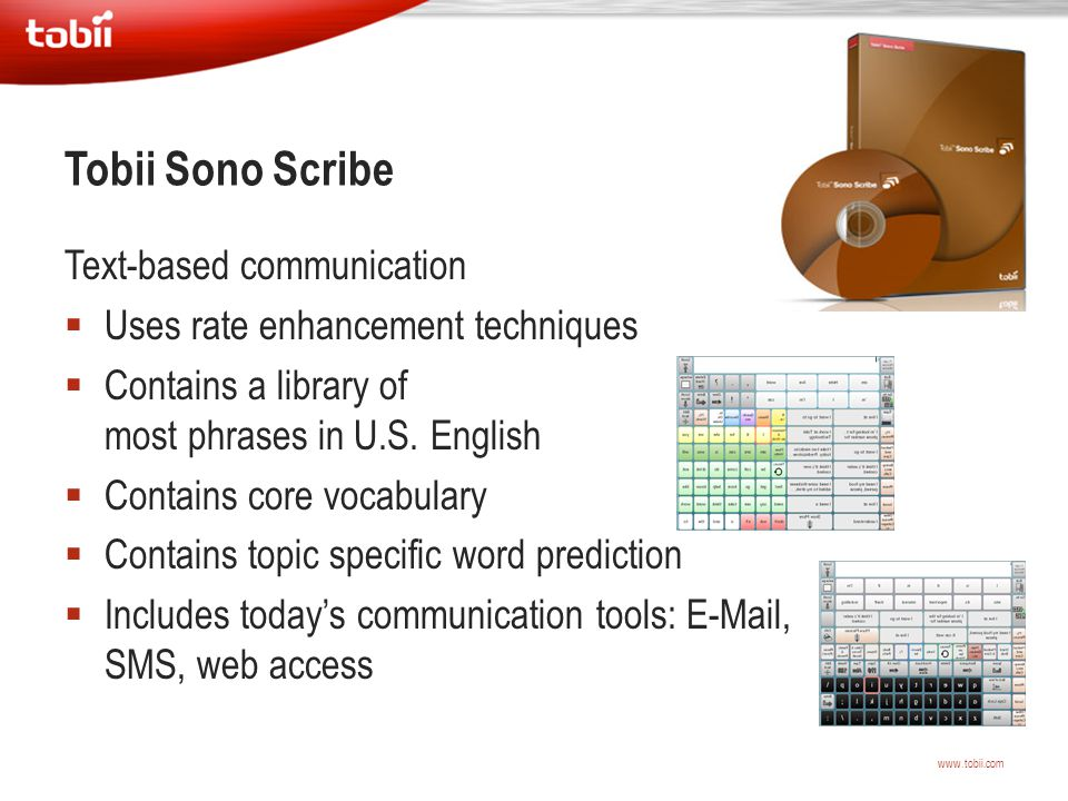 Tobii Sono Scribe Text-based communication