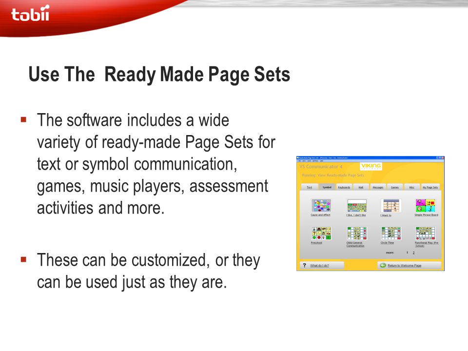 Use The Ready Made Page Sets