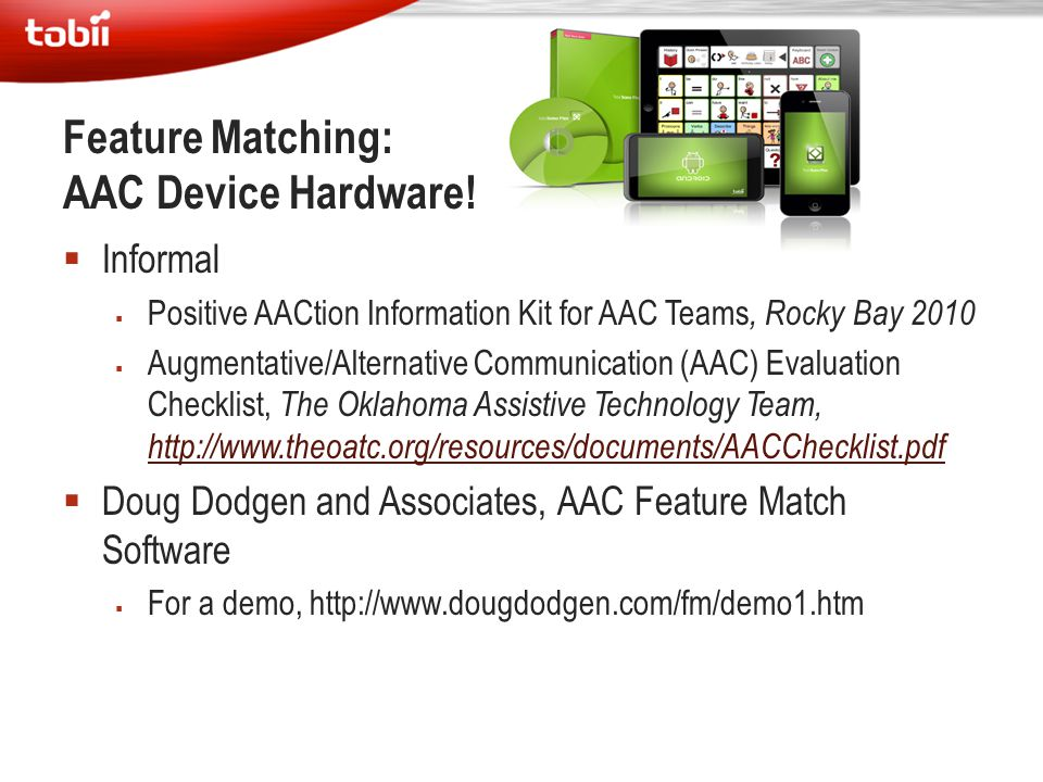 Feature Matching: AAC Device Hardware!