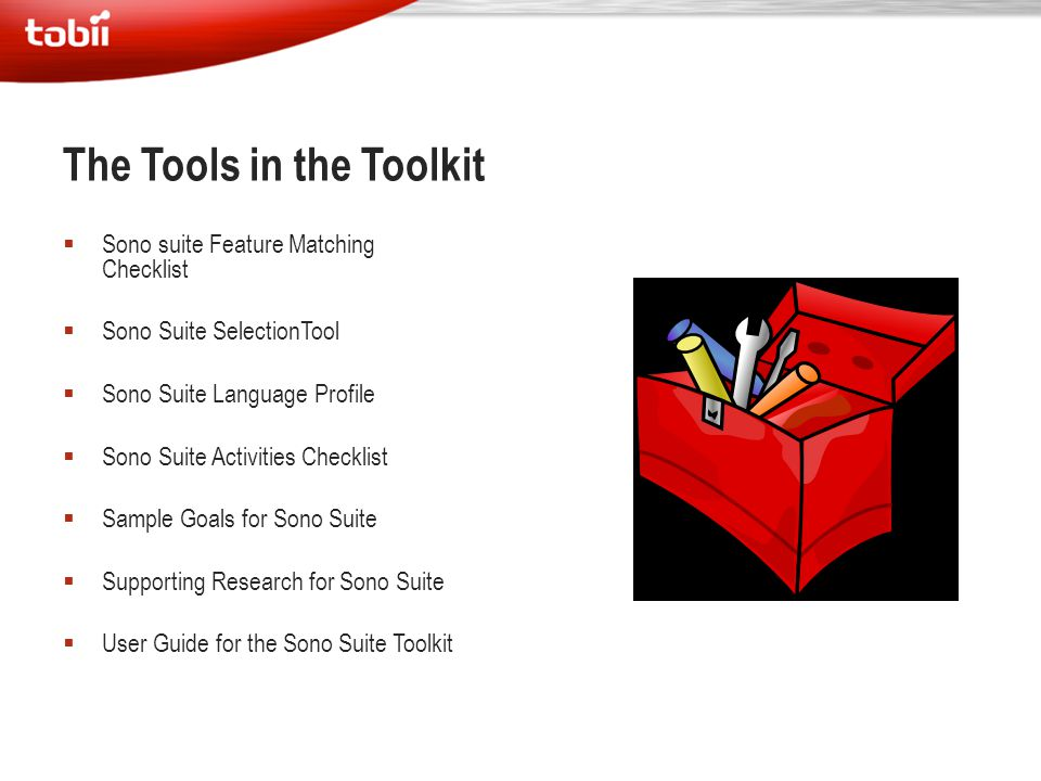 The Tools in the Toolkit