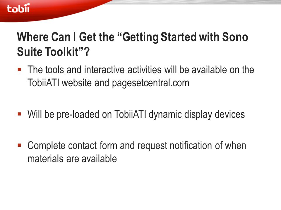 Where Can I Get the Getting Started with Sono Suite Toolkit