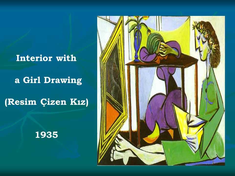 Interior with a Girl Drawing (Resim Çizen Kız) 1935