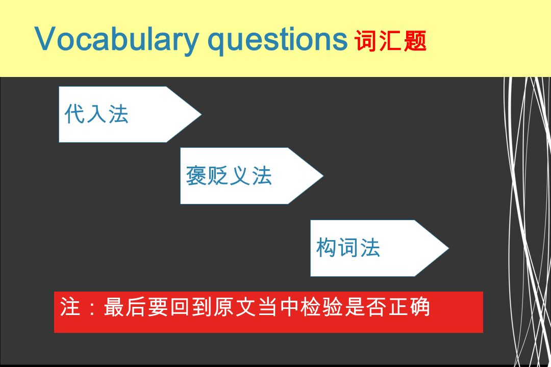Vocabulary questions 词汇题