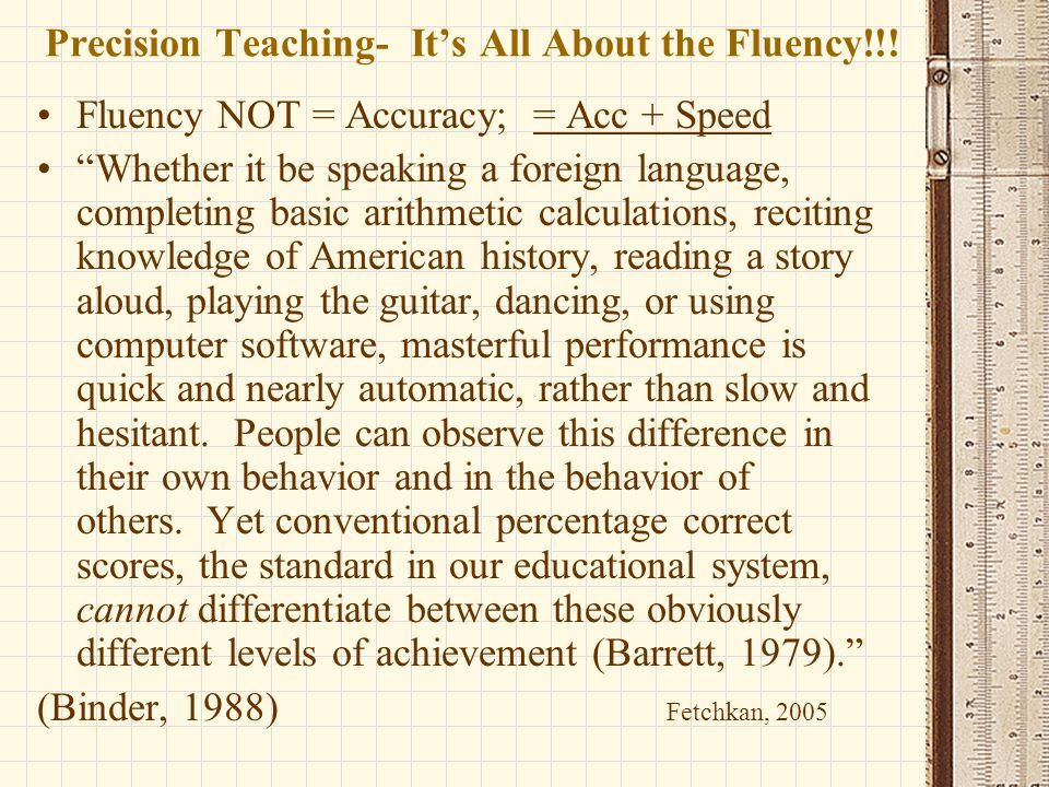 Precision Teaching- It's All About the Fluency!!!