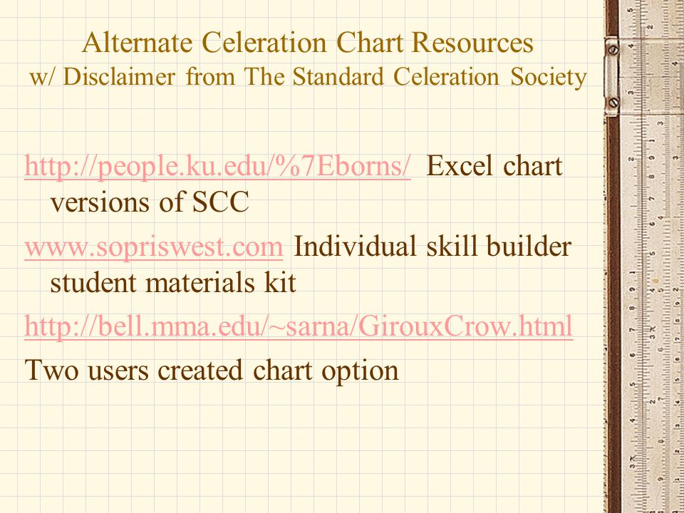 Alternate Celeration Chart Resources w/ Disclaimer from The Standard Celeration Society
